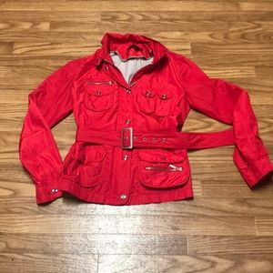 Zara Woman's XL Red Polyester Jacket